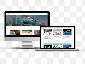 Zakat - Computer Monitors Responsive Web Design Mockup PNG