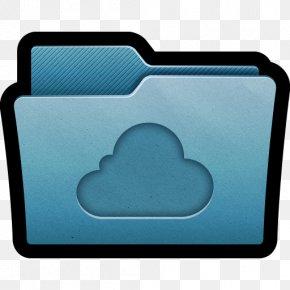 Folder Cloud - Aqua Electric Blue PNG