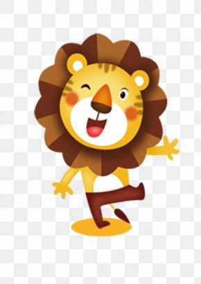 Cartoon Lion - Lion Dance Tiger Cartoon PNG