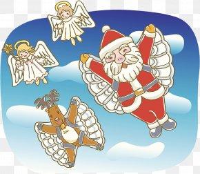 Santa Reindeer Illustration - Santa Claus Photography Stock Illustration Royalty-free Illustration PNG