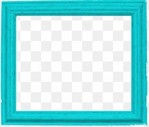 Teal Border Frame Pic - Square Area Text Picture Frame Pattern PNG