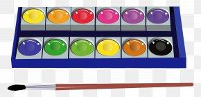 Watercolor Pan Set Clipart Pictur - Watercolor Painting Clip Art PNG