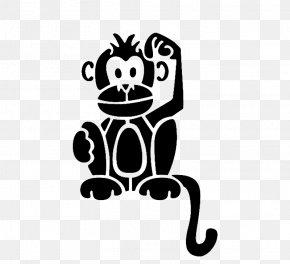 Monkey - Stencil Ape Monkey Silhouette PNG