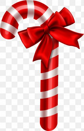 Candy - Candy Cane Stick Candy Ribbon Candy PNG