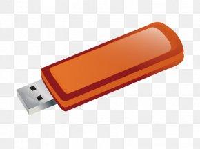 Orange USB Flash Drive Vector - USB Flash Drive Download PNG