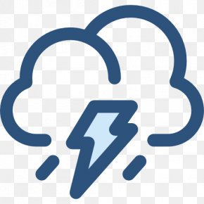 Thunderstorm Icon - User Interface Weather Symbol Clip Art PNG