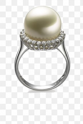 Pearl Diamond Platinum Ring - Pearl Earring Jewellery Gold PNG