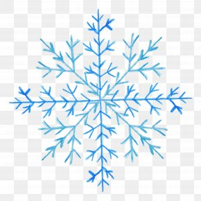 Creative Floral Patterns - Blue Snowflake Pattern PNG