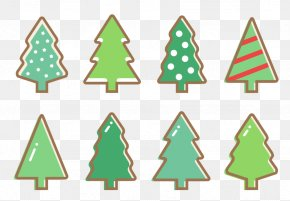 Vector Cute Hand-painted Christmas Tree - Christmas Tree Christmas Lights PNG