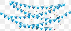 Vector Hand Painted Blue Flag - Blue Euclidean Vector PNG