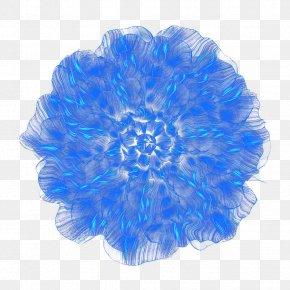 Dream Blue Flower Top View - Blue Flower Blue Flower PNG