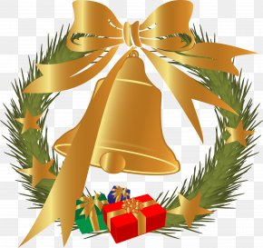Vector Grass Ring The Bell - Christmas Tree Christmas Decoration Gift PNG
