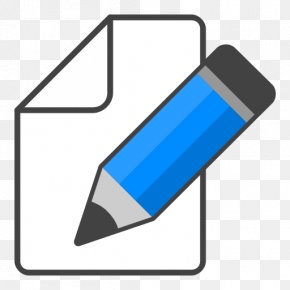 Edit Icon Blue Pencil - Apple Icon Image Format PNG