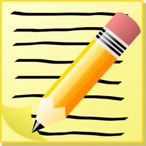 Animated Writing Cliparts - Text Clip Art PNG