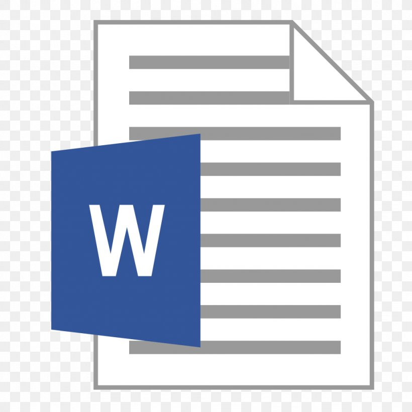 Microsoft Word Office Open XML Document Computer File, PNG, 1024x1024px, Microsoft Word, Area, Blue, Brand, Computer Software Download Free