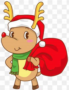 Christmas Cliparts Rudolph - Rudolph Santa Claus Reindeer Christmas Clip Art PNG