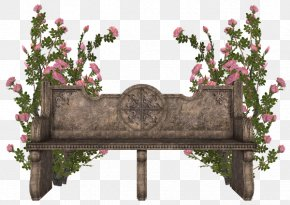 Park Stone Bench - Bench Clip Art PNG