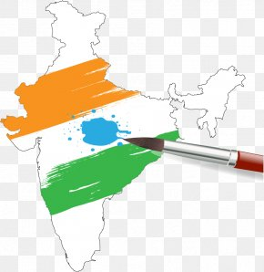 Creative Hand-drawn Map - India Map Painting Clip Art PNG