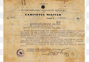 Passport - Travel Document Second World War Romania The Holocaust PNG