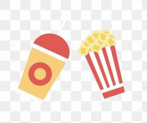Drinks And Popcorn Vector Material - Popcorn Film Cinema PNG