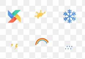 Windmills Snowflake Sun Rainbow - Weather Forecasting Download Icon PNG