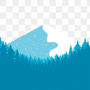 Snowy Winter - Snow Euclidean Vector Forest PNG