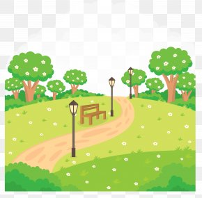 Summer Park Landscape Vector Material - Gardening Royalty-free Clip Art PNG