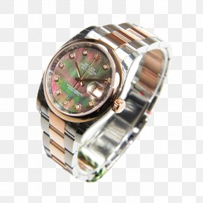 Gold Rolex Watch Male Watch - Automatic Watch Rolex PNG