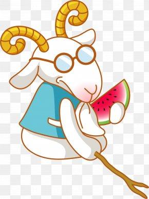 Cartoon White Goat - Russian White Goat Sheepu2013goat Hybrid PNG