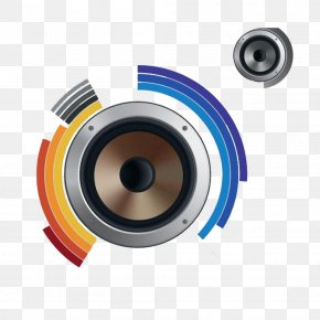 Lens-shaped Decorative Pattern PPT - Computer Speakers Camera Lens Blue Download PNG