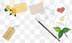 Learning School Pencil Flowers Background Material - Paper Pencil Learning School PNG