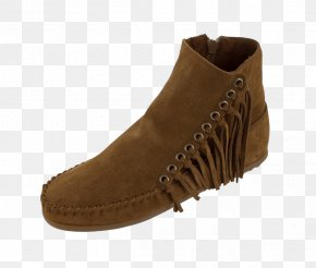 Continental Fringe - Suede Boot Shoe Walking PNG