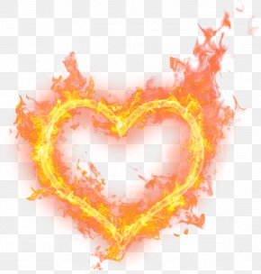 Heart Watercolor - Fire Flame Love Clip Art PNG