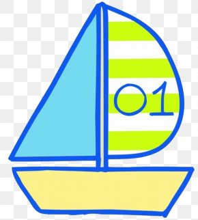 Hand Drawn Sailboat - Sailing Ship Cartoon Illustration PNG