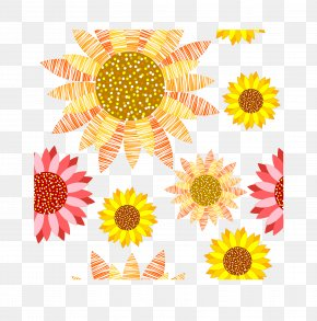 Colorful Sunflower - Common Sunflower Painting Sunflowers PNG