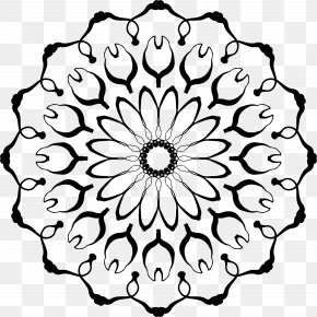 Mandala - Flower Drawing Clip Art PNG