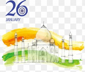 Drawing Taj Mahal, India - Indian Independence Day Republic Day PNG