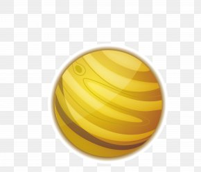 Yellow Planet - Earth Planet PNG