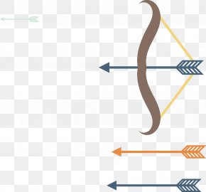 Vector Bow And Arrow Combination - Euclidean Vector Bow And Arrow Bow And Arrow PNG