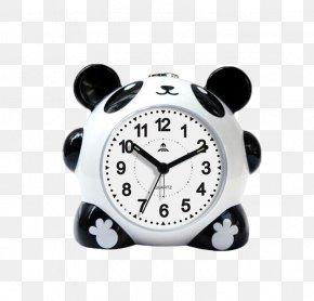 Black Panda Alarm Clock - Giant Panda Alarm Clock Table Bedroom PNG