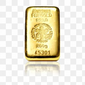 Gold Bar Decorated - Gold Bar Metal Gold As An Investment Good Delivery PNG