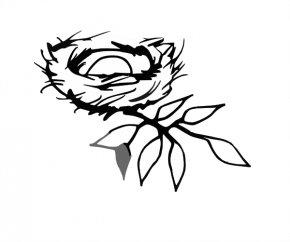 Nest Outline Cliparts - Bird Nest Bird Nest Clip Art PNG