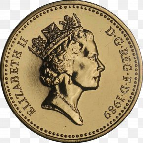 Coin - Coin One Pound Pound Sterling Currency Money PNG