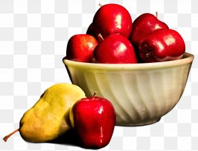 Fruits In A Basket - Apple In A Basket PNG