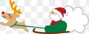 Santa Claus - Santa Claus Reindeer Illustration Christmas Day Rudolph PNG