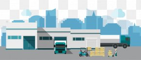 Vector Warehouse - Warehouse Euclidean Vector Logistics Factory PNG