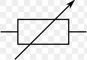 Simple Linear Current Arrow - Resistor Potentiometer Electronic Symbol Electronic Circuit PNG