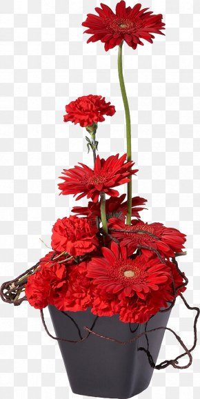 Potted - Flowerpot Flower Bouquet Red Bonsai PNG