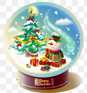 Transparent Christmas Snowglobe With Snowman Picture - Snow Globe Christmas Gift PNG