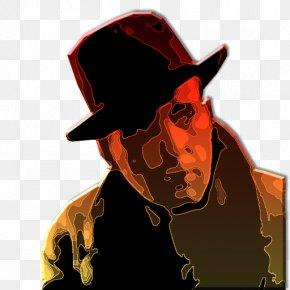Famous People - Sunglasses Cowboy Hat Illustration PNG
